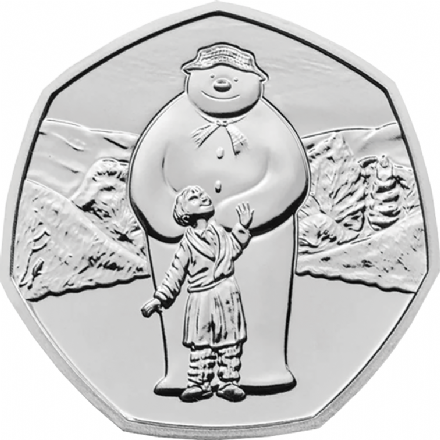 The Snowman 2019 Brilliant Uncirculated 50p-Second in the Series